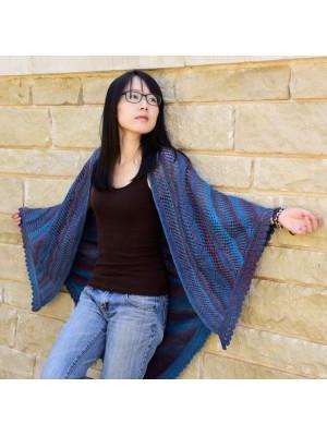 Bear Track shawl
